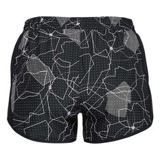 Under Armour Womens Fly By Printed Shorts Black XXS, Black, rebel_hi-res