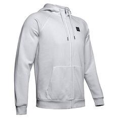 Under Armour Mens Rival Fleece Full Zip Hoodie Grey XS, Grey, rebel_hi-res