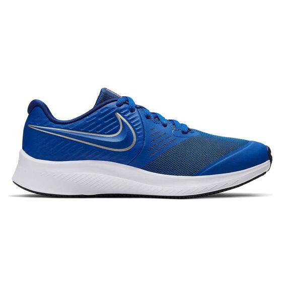 Nike Star Runner 2 Kids Running Shoes, Blue / White, rebel_hi-res