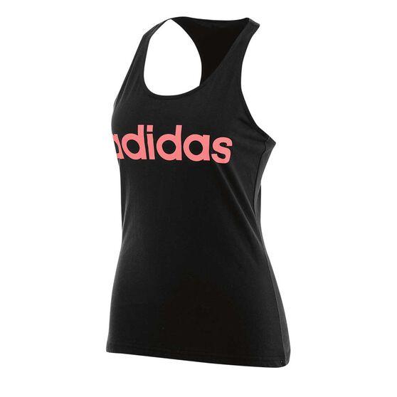 944a4e55100 adidas Womens Essentials Linear Slim Tank Black / Red M Adult, Black / Red,