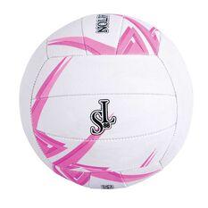 Sharni Leyton Match Ball White / Pink 4, White / Pink, rebel_hi-res