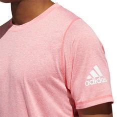 adidas Mens FreeLift Sport Ultimate Heather Tee Pink M, Pink, rebel_hi-res