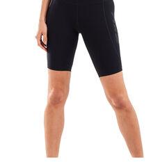 2XU Womens Fitness New Heights Bike Shorts Black XS, Black, rebel_hi-res