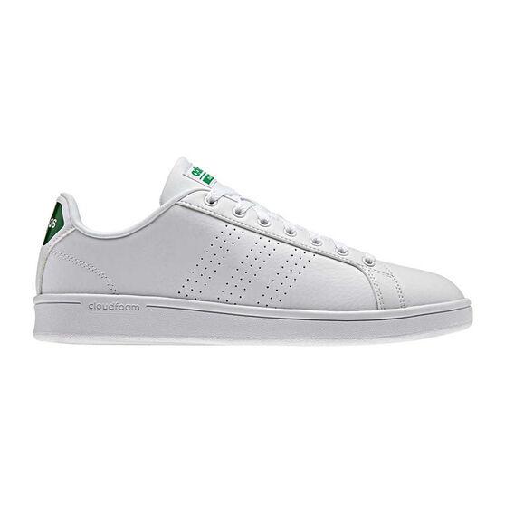 adidas Cloudfoam Advantage Clean Mens Casual Shoes, White / Green, rebel_hi-res