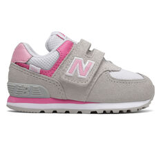New Balance 574 Toddlers Shoes Grey/Pink US 6, Grey/Pink, rebel_hi-res