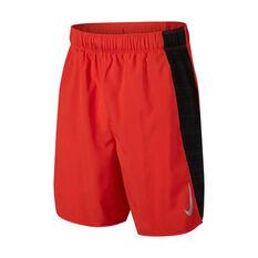 29afa1f25e96 Nike Boys Flex Challenger 6in Training Shorts Red   Black XS