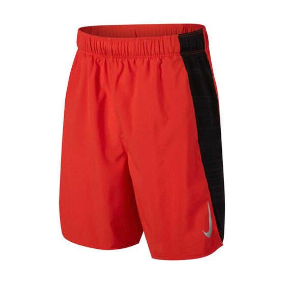 official photos e5fc9 523a1 Nike Boys Flex Challenger 6in Training Shorts, Red   Black, rebel hi-res