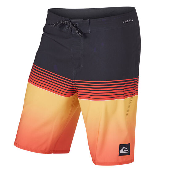 Quiksilver Mens Highline Slab 20in Board Shorts, Blue/Orange, rebel_hi-res