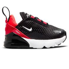 Nike Air Max 270 Toddlers Casual Shoes Black/White US 2, Black/White, rebel_hi-res