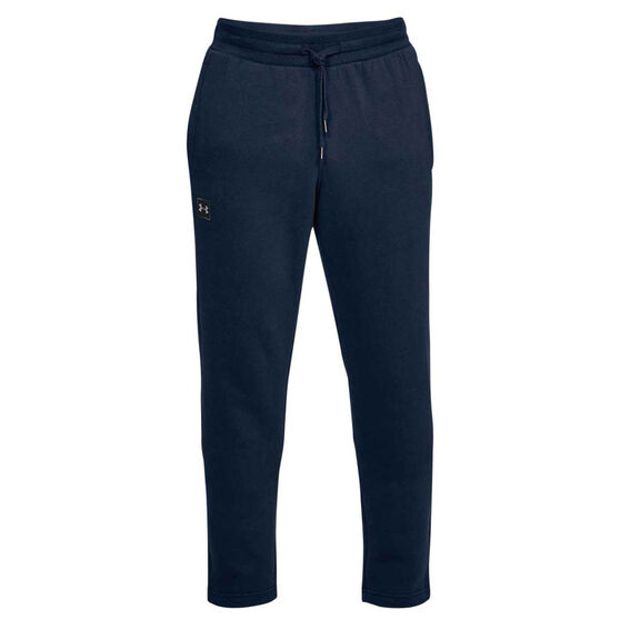 Under Armour Mens UA Rival Fleece Track Pants, Navy / Black, rebel_hi-res