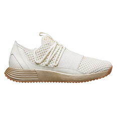 Under Armour Breath Lace X NM Womens Training Shoes White / Gold US 6, White / Gold, rebel_hi-res