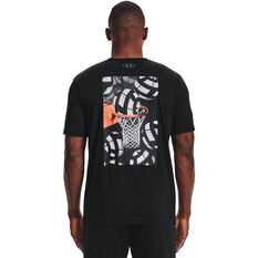 Under Armour Mens International Hoops Icon Tee Black XS, Black, rebel_hi-res