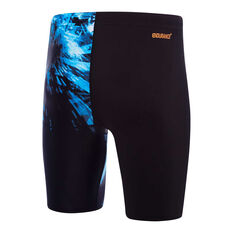 Speedo Mens Freeze Frame Jammer Swim Shorts Black / Blue 14, Black / Blue, rebel_hi-res