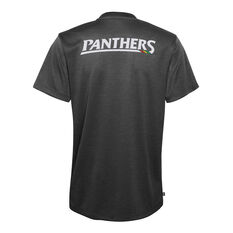 Penrith Panthers 2021 Mens Performance Tee Black S, Black, rebel_hi-res