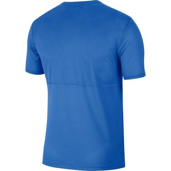 Nike Mens Breathe Running Tee, Blue, rebel_hi-res