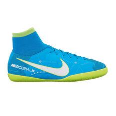 Nike MercurialX Victory VI NJR Dynamic Fit Junior Indoor Soccer Shoes Blue / White US 1, Blue / White, rebel_hi-res