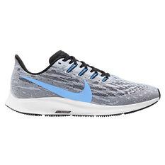 Nike Air Zoom Pegasus 36 Mens Running Shoes White / Blue US 7, White / Blue, rebel_hi-res