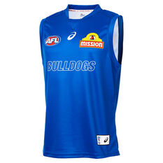 Western Bulldogs 2019 Mens Training Guernsey Blue S, Blue, rebel_hi-res