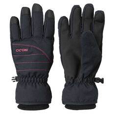 Rojo Womens New Icon Gloves Black XS, Black, rebel_hi-res