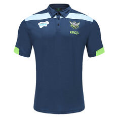 Canberra Raiders 2021 Mens Media Polo Navy S, Navy, rebel_hi-res