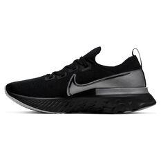Nike React Infinity Run Flyknit Mens Running Shoes Black / Grey US 7, Black / Grey, rebel_hi-res