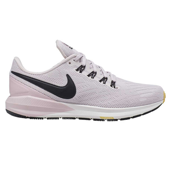 Nike Air Zoom Structure 22 Womens Running Shoes, Purple / Black, rebel_hi-res