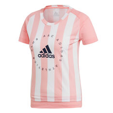 adidas Womens Sports ID Tee Pink XS, Pink, rebel_hi-res