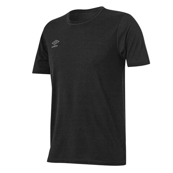 Umbro Mens Staple Training Tee, Black, rebel_hi-res