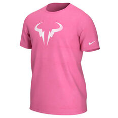 NikeCourt Mens Dri-FIT Rafa Tennis Tee Pink XS, Pink, rebel_hi-res