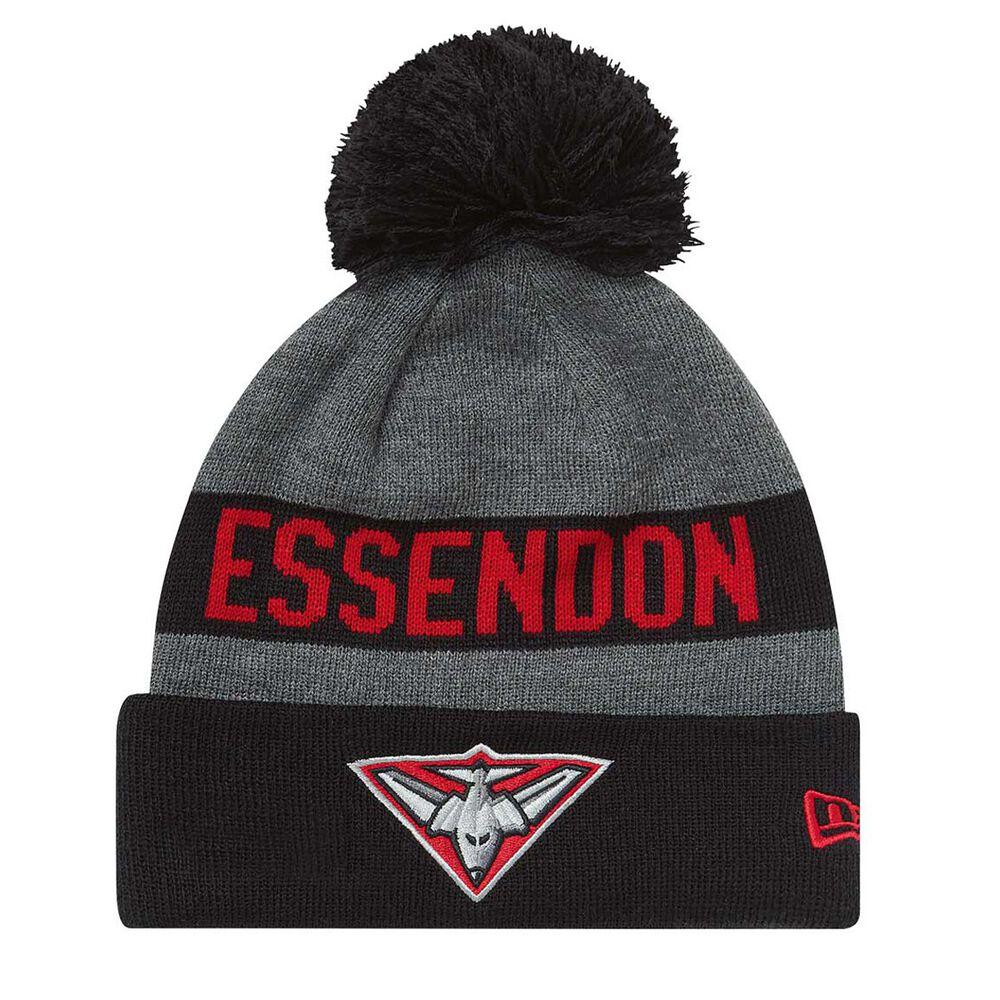 Essendon Bombers 2018 New Era Jake Beanie Grey OSFA  bff777996
