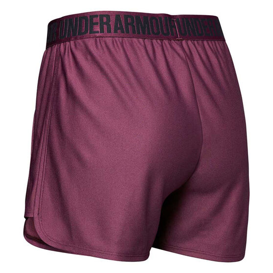 Under Armour Womens Play Up Shorts, Purple, rebel_hi-res