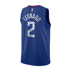 Nike Los Angeles Clippers Kawhi Leonard Mens Icon Edition Swingman Blue / Red S, Blue / Red, rebel_hi-res