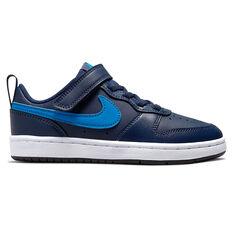 Nike Court Borough Low 2 Kids Casual Shoes Navy US 11, Navy, rebel_hi-res