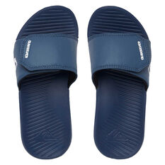 Quiksilver Bright Coast Adjust Kids Slides Blue US 2, Blue, rebel_hi-res