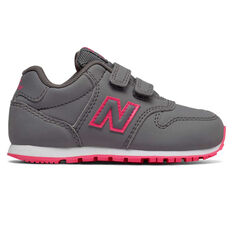 New Balance 500 Toddlers Shoes Grey/Pink US 5, , rebel_hi-res
