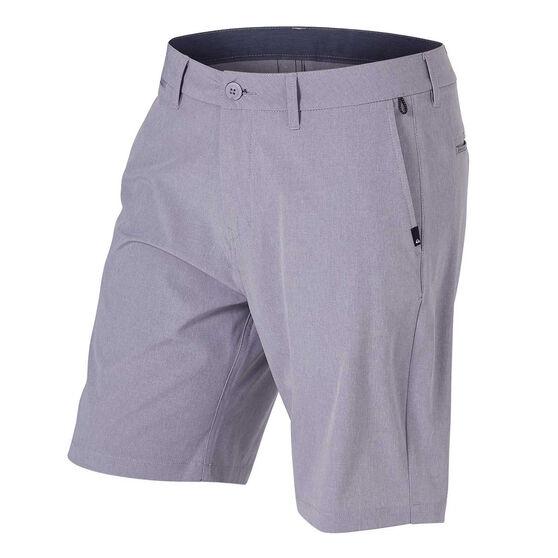 "Quiksilver Mens Union Heather 20"" Amphibian Board Shorts, Grey, rebel_hi-res"