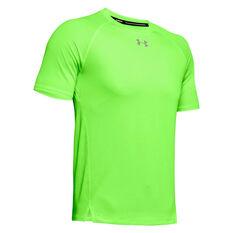 Under Armour Mens Qualifier Running Tee Green S, Green, rebel_hi-res
