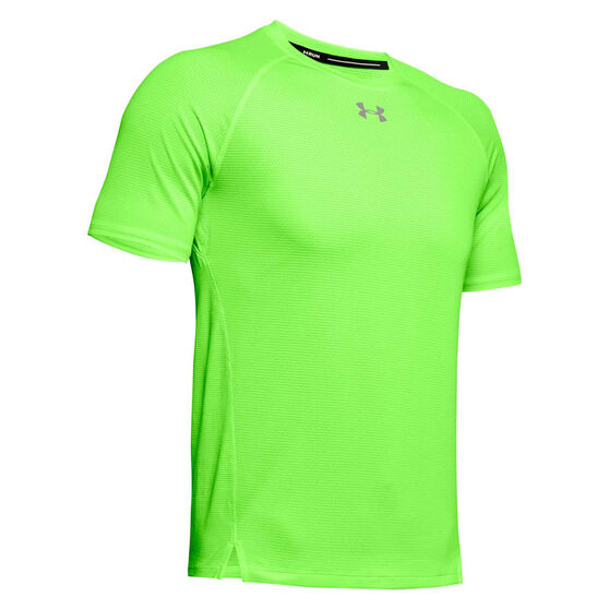 Under Armour Mens Qualifier Running Tee Green S, Green, rebel_hi-res