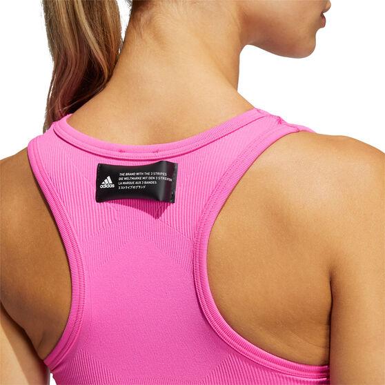adidas Womens Studio Sports Bra, Pink, rebel_hi-res