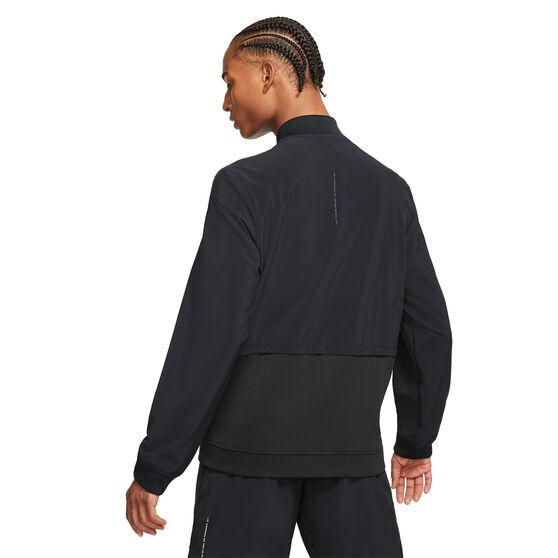 Nike Mens Dri-Fit Full Zip Training Jacket, Black, rebel_hi-res