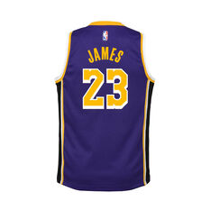 Nike Los Angeles Lakers Lebron James 2020/21 Kids Statement Swingman Jersey Purple S, Purple, rebel_hi-res