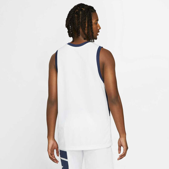 Nike Mens Dri-FIT Basketball Jersey, White/Blue, rebel_hi-res