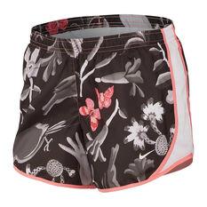 Nike Girls Dri-FIT Tempo AOP Femme Running Shorts Black / Print XS, Black / Print, rebel_hi-res