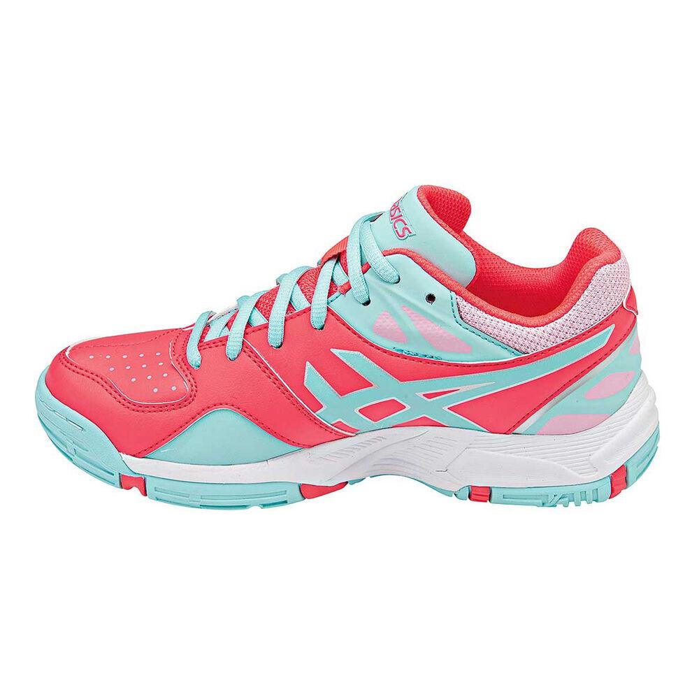 Asics Gel Netburner 18 Girls Netball Shoes Pink   Aqua US 1  91025b65b