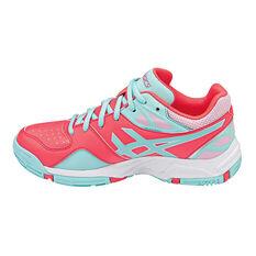 Asics Gel Netburner 18 Girls Netball Shoes Pink / Aqua US 1, Pink / Aqua, rebel_hi-res