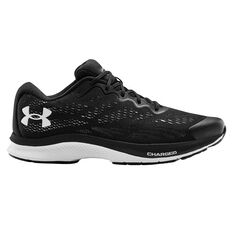 Under Armour Charged Bandit 6 Mens Running Shoes Black/White US 7, Black/White, rebel_hi-res