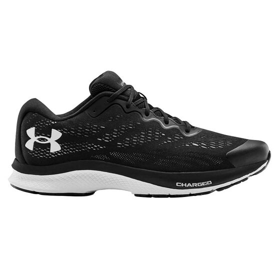 Under Armour Charged Bandit 6 Mens Running Shoes, Black/White, rebel_hi-res