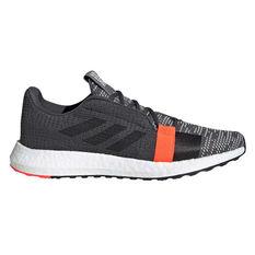 adidas Senseboost Go Mens Running Shoes Grey / Blue US 7, Grey / Blue, rebel_hi-res