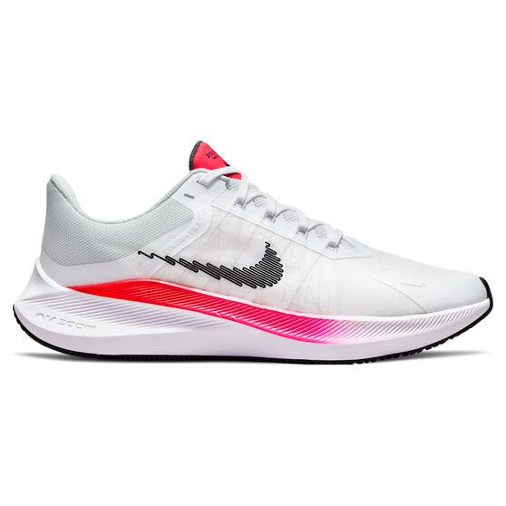 Nike Winflo 8 Mens Running Shoes, White/Black, rebel_hi-res