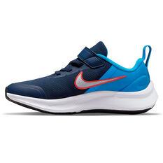 Nike Star Runner 3 Kids Running Shoes Navy/White US 11, Navy/White, rebel_hi-res